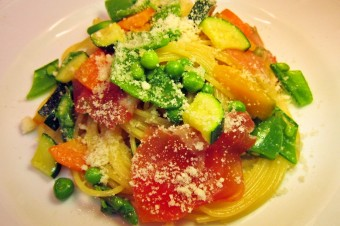 大分県産野菜と生ハムのスパゲッティ バター風味